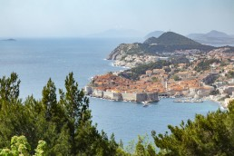 Croatia, Dubrovnik, view to the city from above