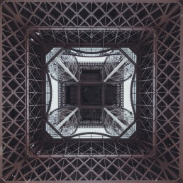 France, Paris, Eiffel Tower seen from below