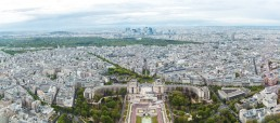 France, Paris, France, Paris, view to the city with Trocadero in the foreground and La Defense in the background