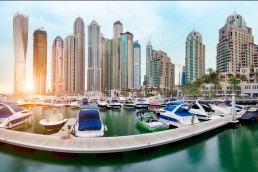 View of the marina in Dubai